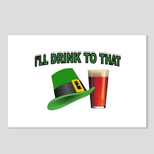 POUR ME A PINT Postcards (Package of 8)