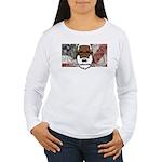 Women's Long Sleeve T-Shirt (white) 2