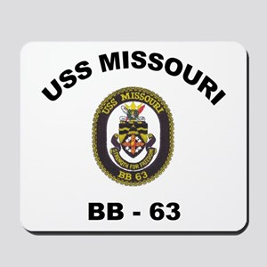 USS Missouri BB 63 Mousepad