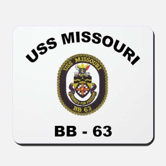 USS Missouri BB 63 Mousepad