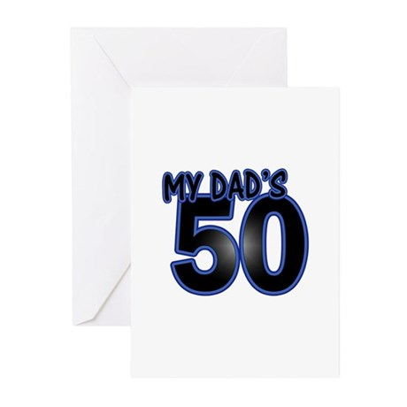 Dads 50th Birthday Greeting Cards Pk Of 10 By Celebrateage