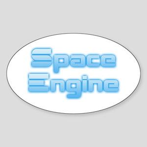 SpaceEngine Logo Two-Line Transparent Sticker