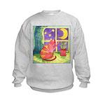 Cat and Moon Watercolor Kids Sweatshirt