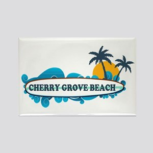 Cherry Grove SC - Surf Design Rectangle Magnet