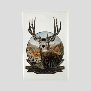 Mule deer Painting Rectangle Magnet