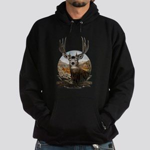 Mule deer Painting Hoodie (dark)