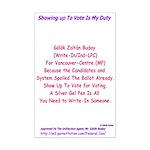 Write-In Buday Mini Poster Print