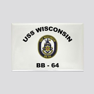 USS Wisconsin BB 64 Rectangle Magnet