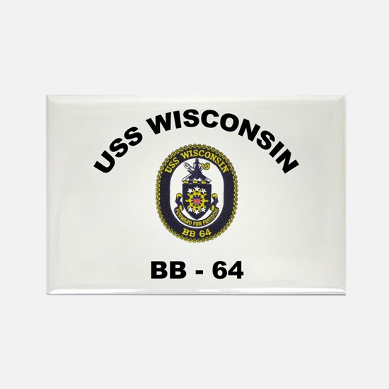 USS Wisconsin BB 64 Rectangle Magnet
