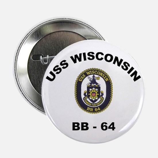 USS Wisconsin BB 64 Button