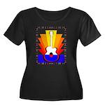 Sunburst Women's Plus Size Scoop Neck Dark T-Shirt