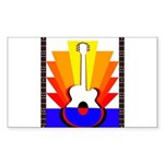 Sunburst Sticker (Rectangle 50 pk)