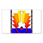 Sunburst Sticker (Rectangle 10 pk)