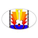 Sunburst Sticker (Oval)