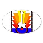 Sunburst Sticker (Oval 10 pk)