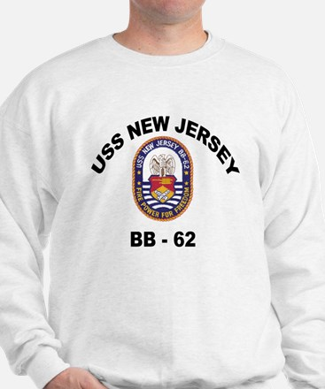 USS New Jersey BB 62 Sweatshirt