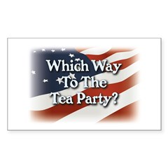 Which Way to The Tea Party? v3 Sticker (Rectangle)