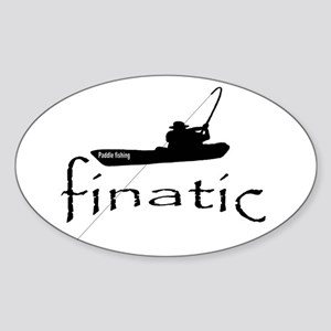 paddle fishing finatic Sticker