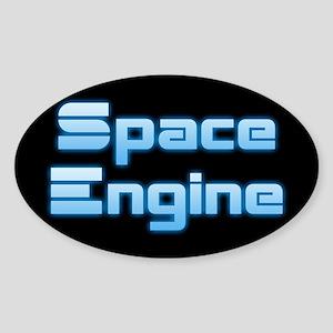 SpaceEngine Logo Two-Line Black Sticker