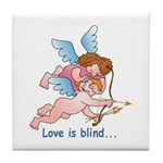 Blind Love Tile Coaster