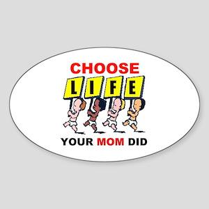 THANK YOU MOM Sticker (Oval)