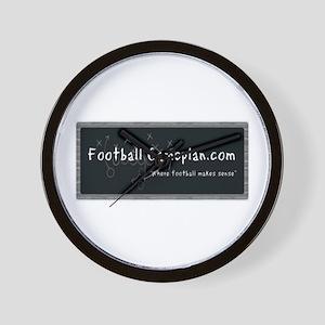 Football Gameplan Wall Clock