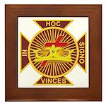 Masonic York Rite (KT) Framed Tile