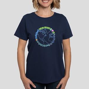 Think Green World Women's Dark T-Shirt