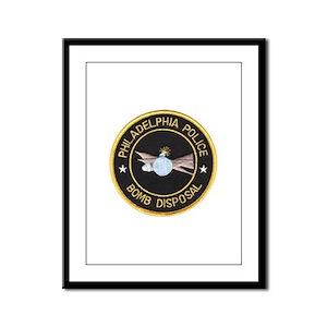 Philidelphia Police Bomb Squad Framed Panel Print
