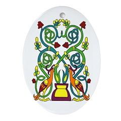 Celtic Tree of Life Ornament (Oval)