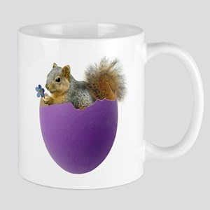 Squirrel in Purple Eggshell Mug