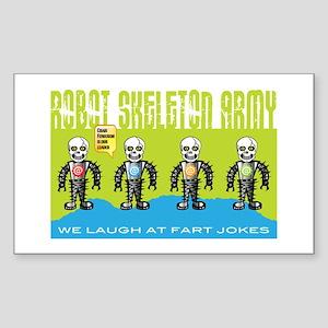 Robot Skeleton Army Sticker (Rectangle 50 pk)
