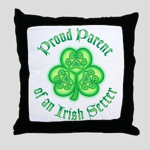 Proud Parent of an Irish Setter Throw Pillow
