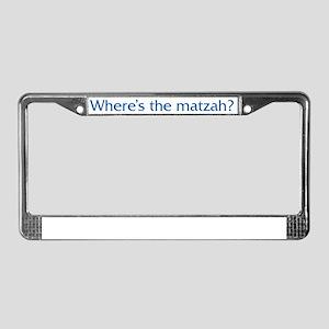 Where's The Matzah License Plate Frame