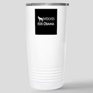 Wolves for Obama Stainless Steel Travel Mug
