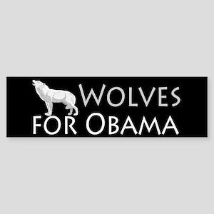 Wolves for Obama Sticker (Bumper)