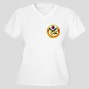 Choe's HapKiDo Women's Plus Size V-Neck T-Shirt