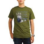 Bowling Therapy Organic Men's T-Shirt (dark)
