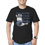 Bowling Therapy Men's Fitted T-Shirt (dark)