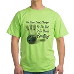 Bowling Therapy Green T-Shirt