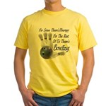 Bowling Therapy Yellow T-Shirt