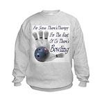 Bowling Therapy Kids Sweatshirt