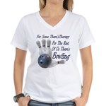 Bowling Therapy Women's V-Neck T-Shirt