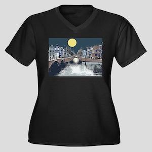 Dutch Boy Women's Plus Size V-Neck Dark T-Shirt