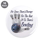 "Bowling Therapy 3.5"" Button (10 pack)"