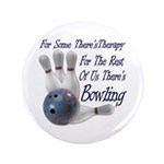 "Bowling Therapy 3.5"" Button"