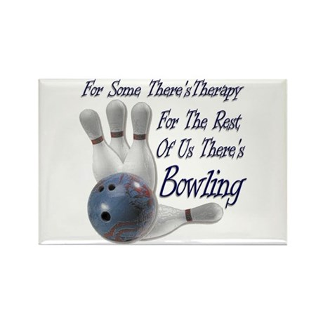 Bowling Therapy Rectangle Magnet (100 pack)