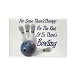 Bowling Therapy Rectangle Magnet (10 pack)