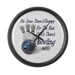 Bowling Therapy Large Wall Clock