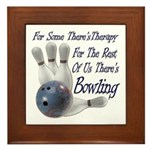 Bowling Therapy Framed Tile